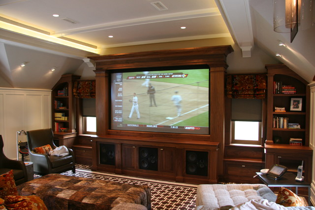Built Ins Contemporary Home Theater Boston By Toby