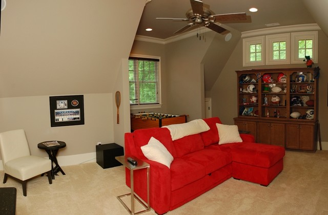 Cabin Woods traditional-home-theater
