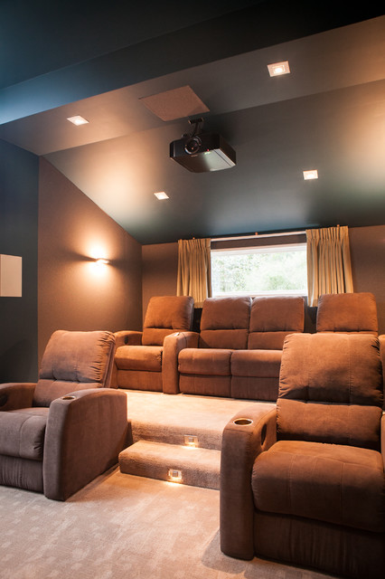 California MInimal traditional-home-theater