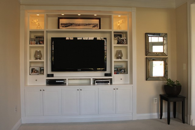 Cameron Station - Built-in Entertainment Center - Contemporary ...
