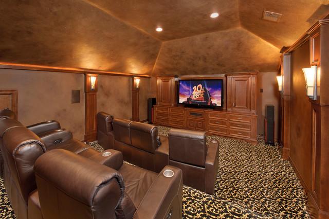 Cascade Canyon Mediterranean Home Theater Houston