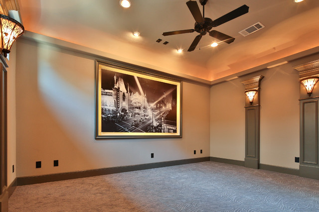 Example of a classic home theater design in Dallas