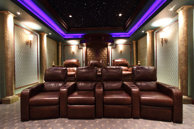 Cedar Hill traditional-home-theater