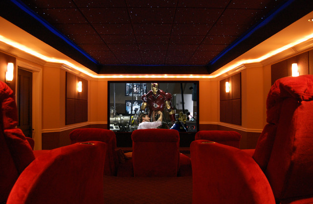 CEDIA Award Winning Project traditional-home-theater