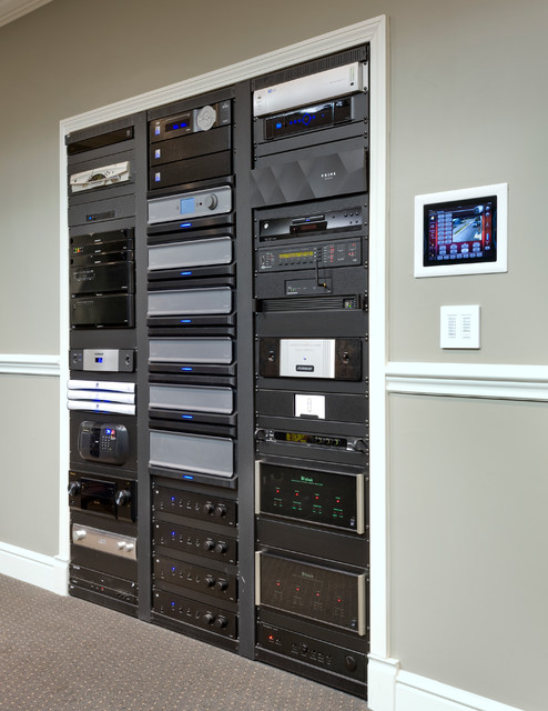 Audio Video Rack Cabinet Kitchen