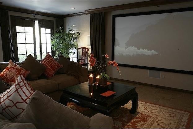 Charmean Neithart Interiors, LLC. traditional-home-theater