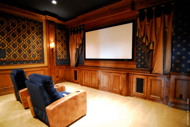 Chateau D'Usse (by: Hillcrest Homes) mediterranean-home-theater