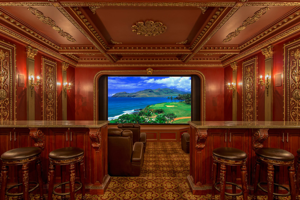 Example of an ornate home theater design in DC Metro