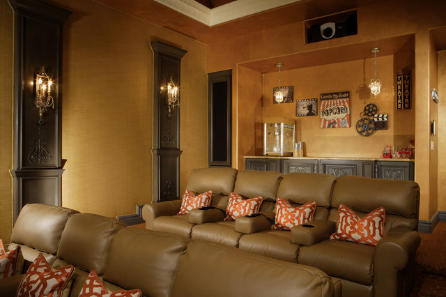 Chic luxury traditional home theater other metro by guided home design - Exquisite pictures of home theater ideas design and decoration ...