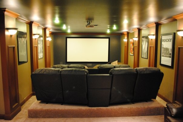 Small theater room joy studio design gallery best design for Small room movie theater