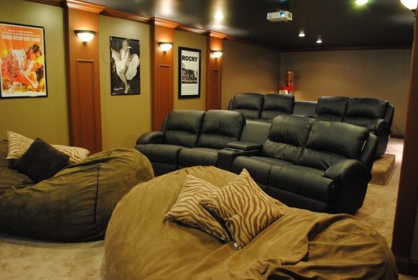 home cinema room chairs. christianson home theatre modern-home-theatre cinema room chairs