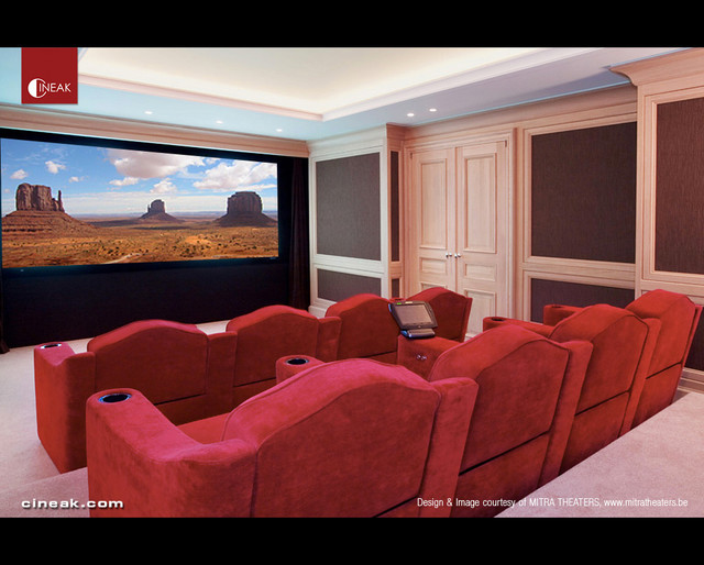 Cineak Bruges Seats in Traditional Home Theater traditional-home-theater