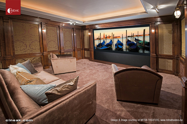 Cineak Custom Home Theater Seats Traditional Home Theater By