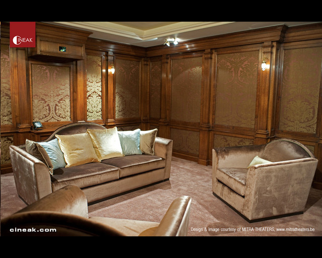 Cineak custom home theater seats traditional home for Luxury home theater rooms