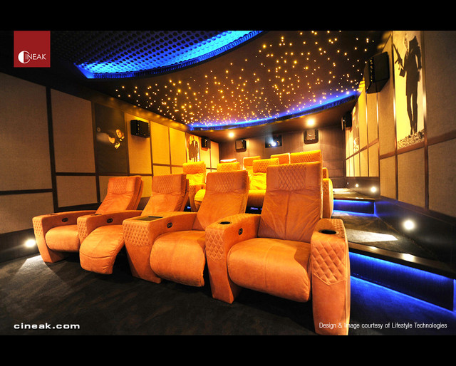 CINEAK Ferrier Luxury Seats featured in High-Tech Theater
