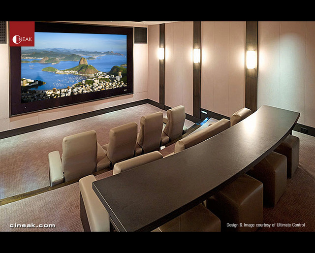 Cineak Fortuny Seats in Innovative Home Theater - modern - media