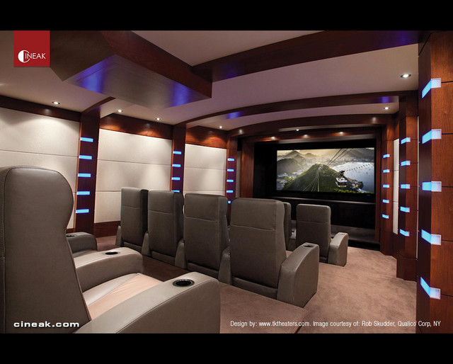CINEAK Nero Seats used in Home Theater - contemporary - media room