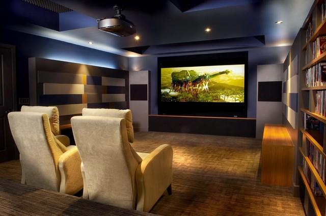 Cinephile Paradise modern-home-theater
