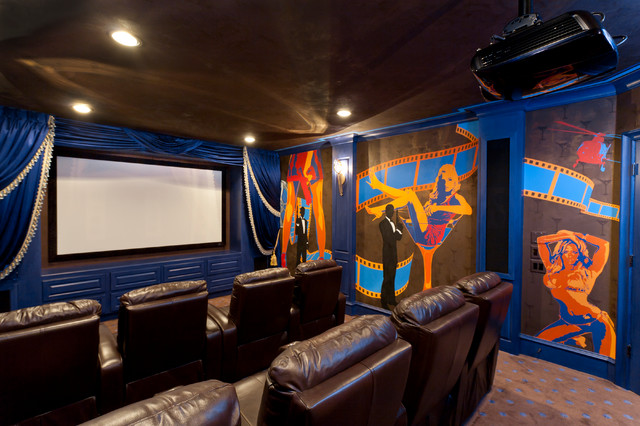 Client S Contemporary Home Theater Houston By Beth