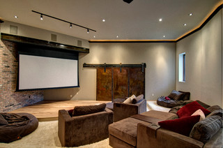 Cliff Line Road Golden Co Contemporary Home Theater Denver By Jon Eady Photographer