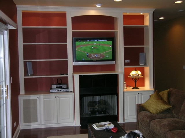 Closet Organizing Systems contemporary-home-theater