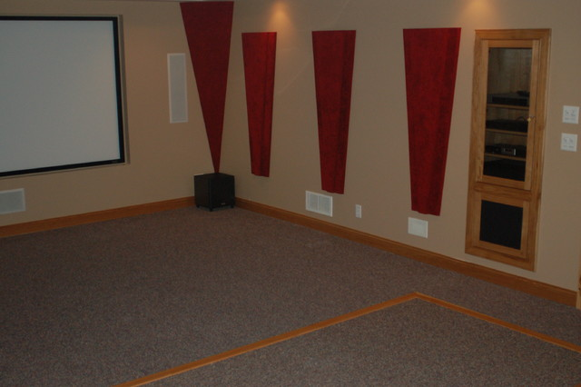 Condo Renovation traditional-home-theater