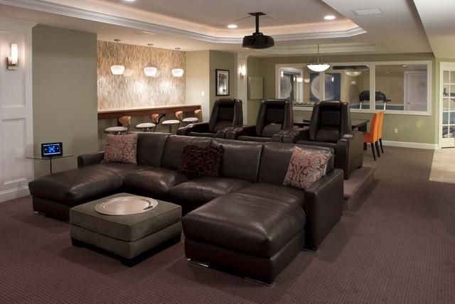 Contemporary Family Entertainment Home