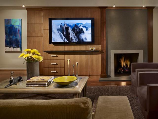 Contemporary family room in Villanova, PA contemporary-home-theater