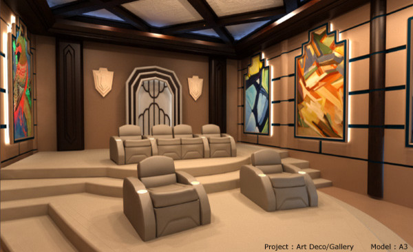 Elite contemporary media room