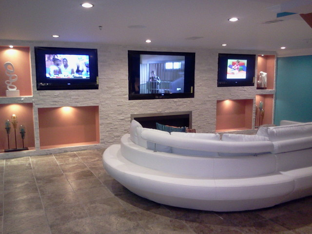 contemporary man cave contemporary home theater dc