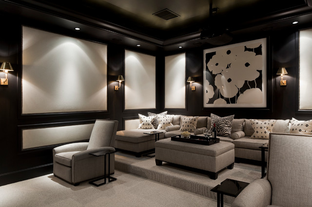Beau Coral Gables, Florida Home Traditional Home Theater