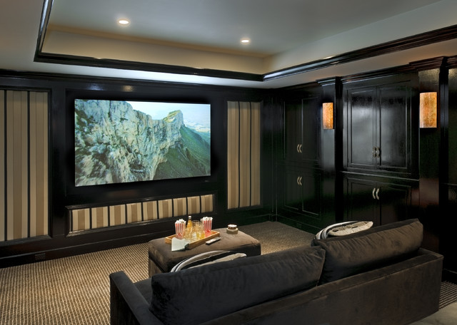 Crisp Architects traditional media room
