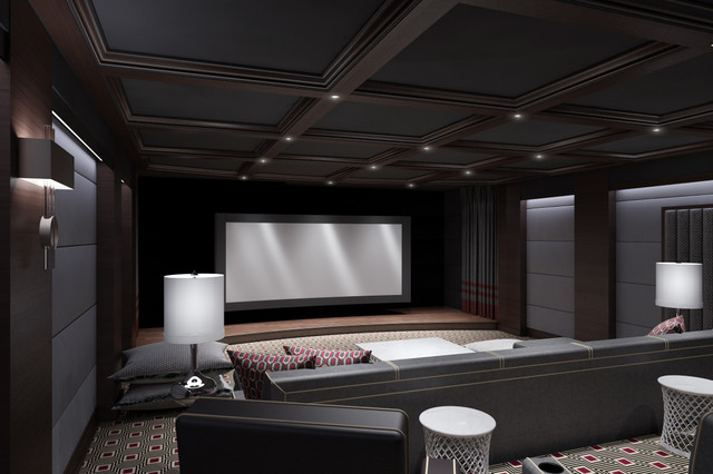CT HOME THEATER Contemporary Home Theater New York by Clark