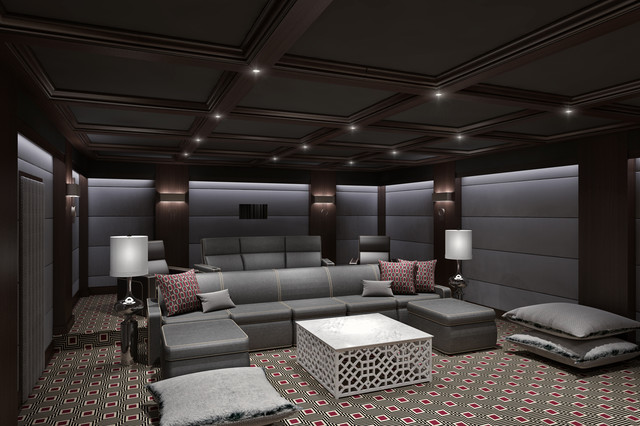 Ct Home Theater Contemporary Home Theater Other By Clark Gaynor Interiors