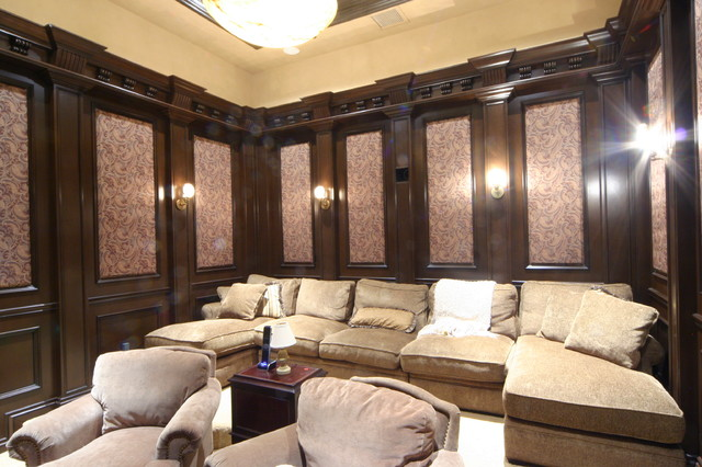 Acoustical Solutions For Home Theater : Custom acoustical panels traditional home theater