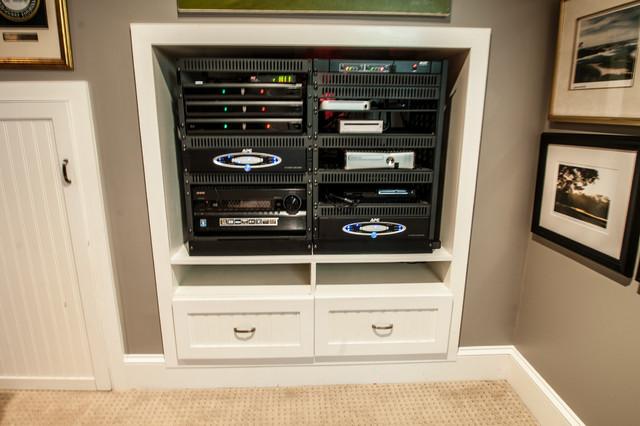 Custom AV Rack - Contemporary - Home Cinema - Charlotte - by Audio ...