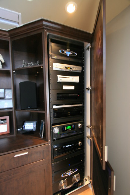 Custom AV Unit - Modern - Home Theater - Other - by The Corner Woodshop