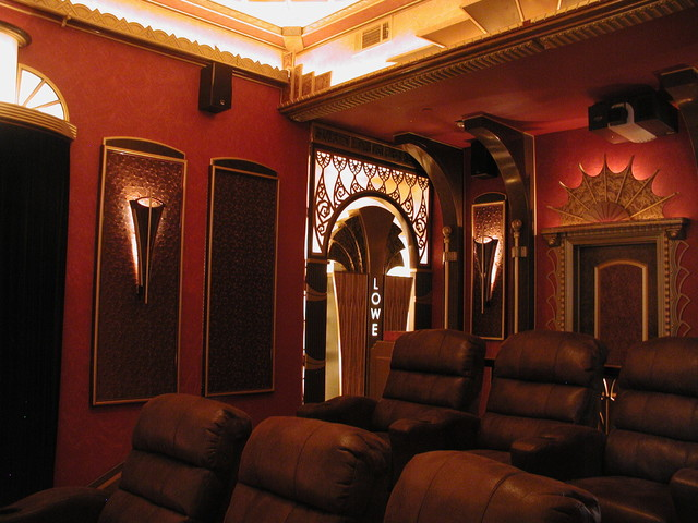 Custom built home theater traditional-home-theater