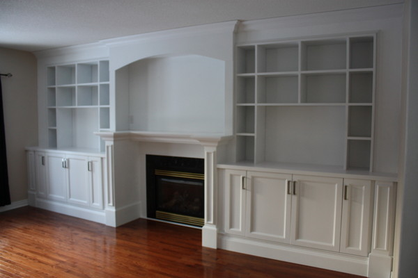 Custom built in wall unit contemporary home theater for Built in wall units
