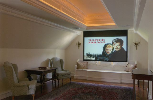 Custom Country Home - Suffield, CT traditional-home-theater