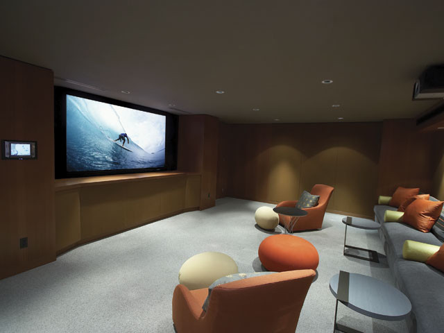 Custom Home Cinema modern media room