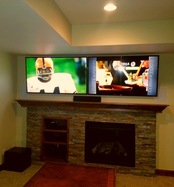 Custom Home Lighitng and Home Automation traditional-home-theater
