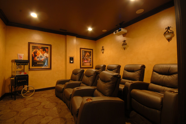 Custom Home traditional-home-theater