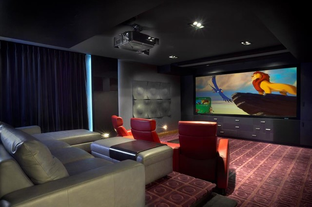 Custom home theatre candiac modern home theater for Custom home theater design