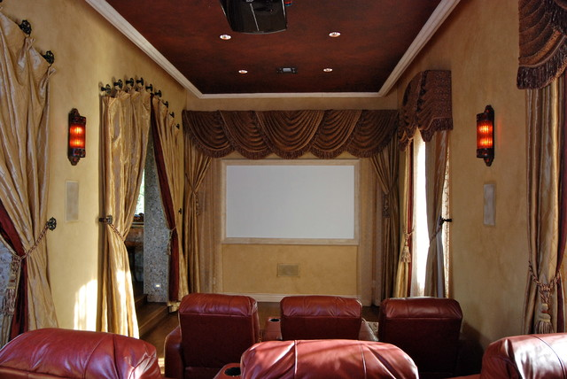 Custom Homes traditional-home-theater