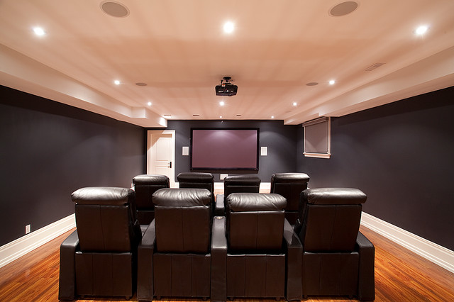 Custom Homes, Wedgewood contemporary-home-theater