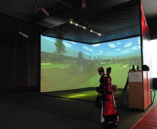 Good Indoor Golf Phoenix #3: Custom Indoor Golf Rooms Tropical-home-theater