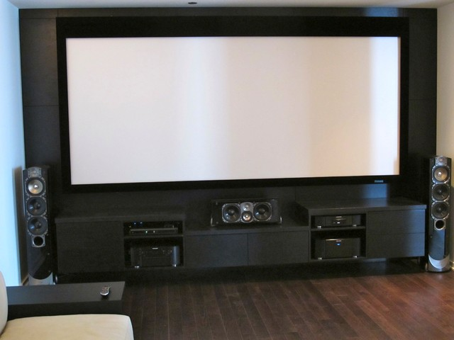 Custom Media Room Entertainment Center With Greenfield Aka Man Cave Contemporary