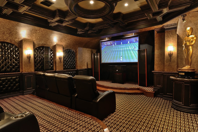 Custom Theater Room Home Theater Houston By Kbc