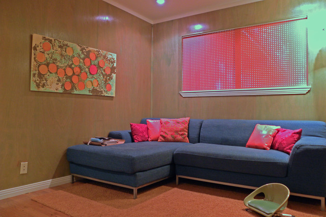 modern media room by Sarah Greenman